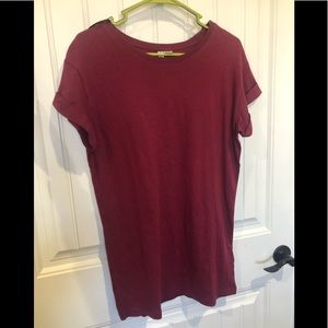 Wine Colored Basic Tee NWT